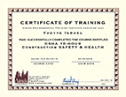 We are OSHA Construction Safety & Health Certified