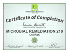 We are RSA Microbial Remediation 210 Certified