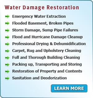 Water and Flood Damage Restoration services in New Jersey