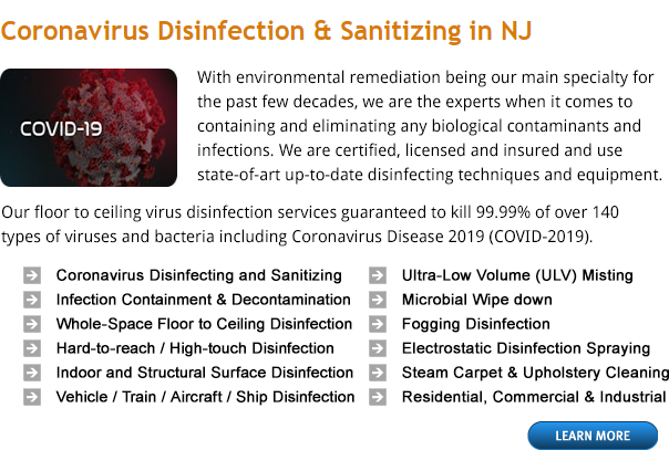 Coronavirus Disinfection & Sanitizing in Bayville NY. Commercial & Residential coronavirus disinfecting service using EPA-registered disinfectants labeled to kill 99.99% of coronavirus pathogens.